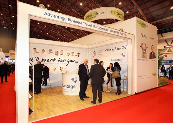 Advantage Business Travel Management Exhibition Stand