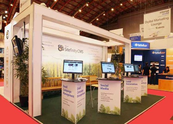 Sitefinity CMS Exhibition Stand