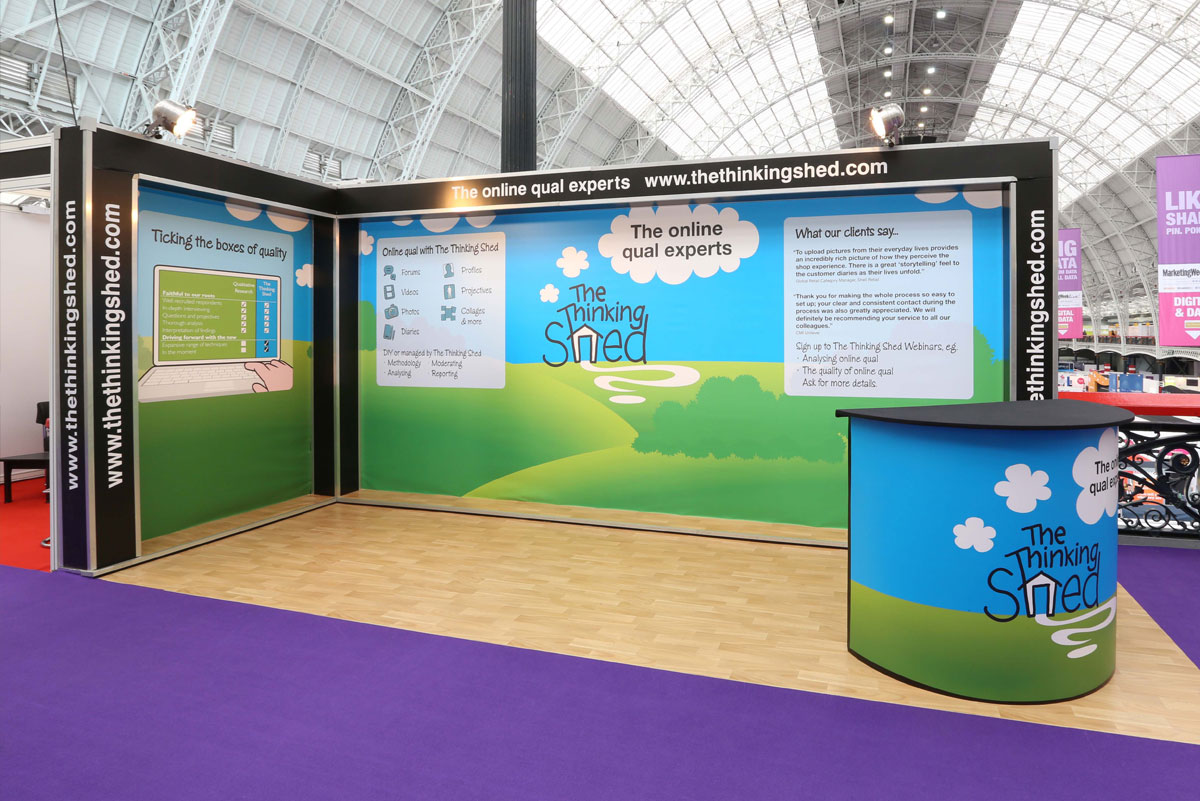 Simple Exhibition Stand : Low cost entry level exhibition stands rock solid exhibitions