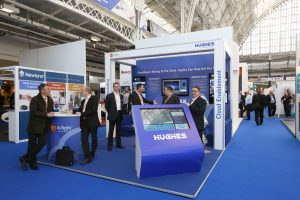 Hughes Network Systems Exhibition Stand